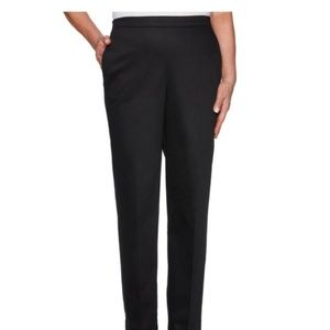 2 Alfred Dunner Straight Leg Black Pants Bundle